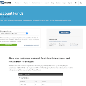 Pluggin Woocommerce Account Funds