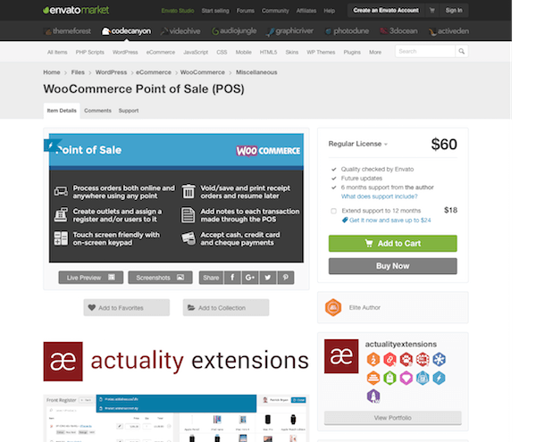 Codecanyon: WooCommerce Point Of Sale (POS)